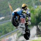 Valentino Rossi Wheelie Yamaha Bike 16x12 Print Poster