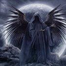 GRIM ANGEL Skeleton Death Skull 16x12 Print Poster