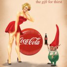 Coca Cola Pin Up Gift For Thirst 16x12 Print POSTER