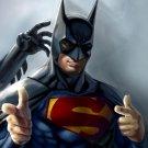 Cool Funny Batman Superman Comic Art 16x12 Print Poster