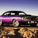 Plymouth Cuda Muscle Car 16x12 Print Poster