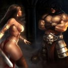 Hot Barbarian Woman Fantasy Painting Art 16x12 Print Poster