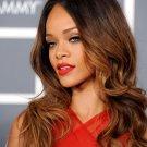 Rihanna Sexy Red Dress R B Singer Music 16x12 Print Poster