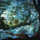 Fantasy Forest Landscape Trees Artwork 16x12 Print Poster