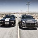 Dodge Challenger Charger SRT8 Cars 16x12 Print Poster