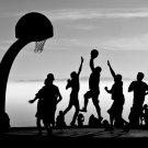 Basketball Silhouette Sport 16x12 Print Poster