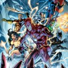 Justice League Heroes Comic Book Art 16x12 Print Poster