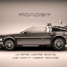 DeLorean Back To The Future Movie 16x12 Print Poster
