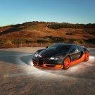 Bugatti Veyron Super Sport Car 16x12 Print Poster