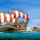 Ancient Greek Trireme Ship Art 16x12 Print Poster