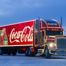 Coca Cola Christmas Trailer Truck 16x12 Print Poster
