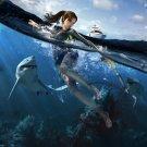 Tomb Raider Underworld Game Art Sharks 16x12 Print Poster