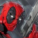 Deadpool Marvel Comics Art Pistol 16x12 Print Poster