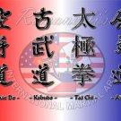 Martial Arts Karate Do Kobudo Aikido Tai Chi 16x12 Print Poster