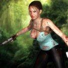 Tomb Raider Hot Lara Croft CG Blood Art 16x12 Print Poster
