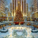 New York Christmas Winter Snow Painting Art 16x12 Print Poster