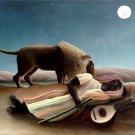 Sleeping Gypsy 1897 Henri Rousseau Art 16x12 Print Poster