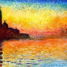 Dusk Venice Claude Monet Painting Art 16x12 Print Poster