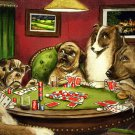 Dogs Playing Poker Coolidge Painting Art 16x12 Print Poster