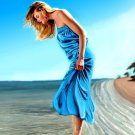 Beautiful Girl Seashore Beach Painting Art 16x12 Print Poster