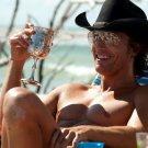 Matthew McConaughey Hot Actor Hat 16x12 Print Poster