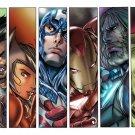 Marvel Characters Comics Art 16x12 Print Poster