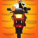 Fools Gear Motorcycle Safety Cool 16x12 Print Poster