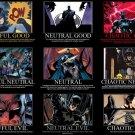 Batman Alignment DC Comics Art 16x12 Print Poster
