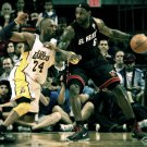Kobe Bryant Vs Lebron James NBA 16x12 Print Poster