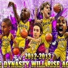 Los Angeles Lakers Howard Nash 2012 NBA 16x12 Print Poster