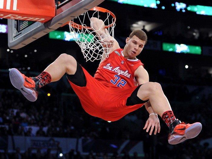 Blake Griffin Slam Dunk Contest Elbow NBA 16x12 Print Poster