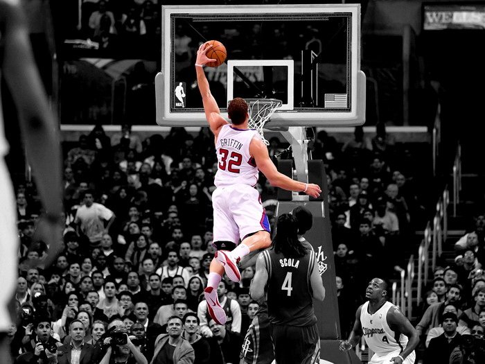 Blake Griffin Dunk Clippers Basketball NBA 16x12 Print Poster