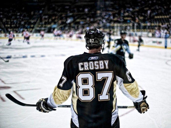 Sidney Crosby Pittsburgh Penguins Back NHL 16x12 Print Poster