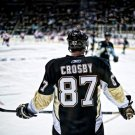 Sidney Crosby Pittsburgh Penguins Back NHL 16x12 Print Poster