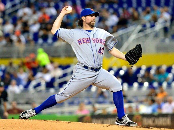 Robert Allen R A Dickey New York Mets MLB 16x12 Print Poster