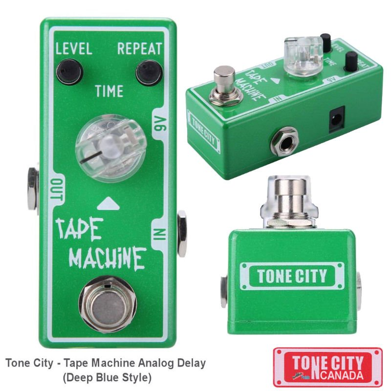 Tone City Tape Machine Delay TC-T4 EffEct Pedal Micro as Mooer Hand Made True Bypass Free Shipping