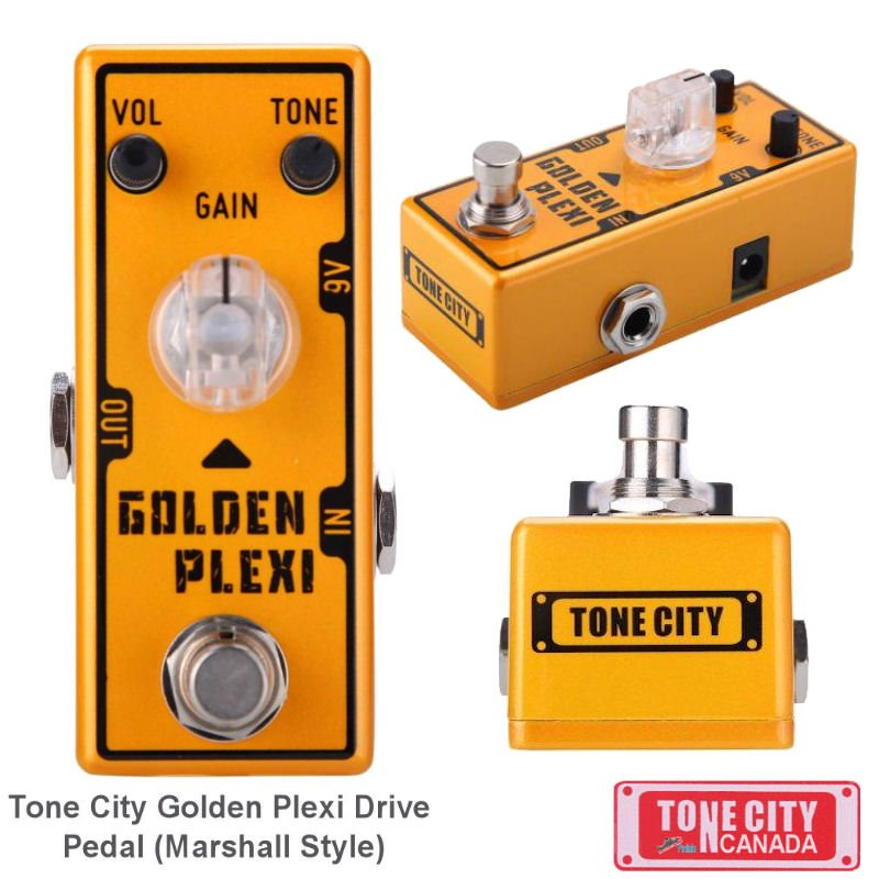 Tone City Golden Plexi Distortion TC-T7 EffEct Pedal Micro as Mooer Hand Made TrueBypass Ships Free