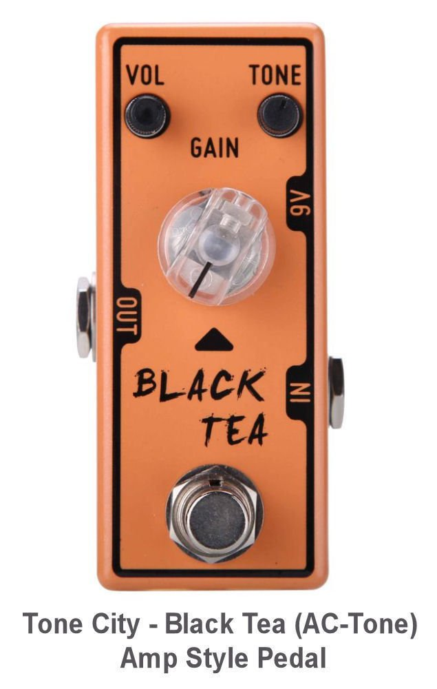 Tone City - Black Tea (AC-Tone) Amp Style Vox Amp Simulation Pedal TC-T8