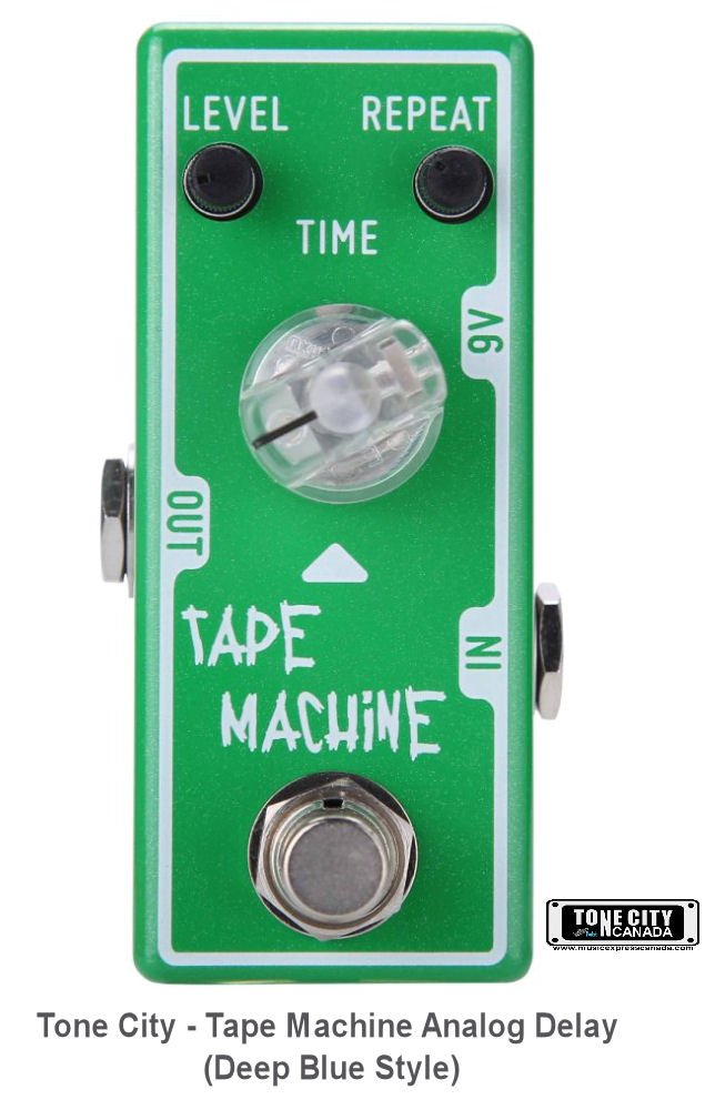 Tone City - Tape Machine Analog Delay Pedal (Deep Blue Style) T4