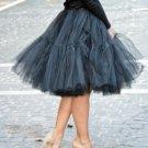 Black Full Fluffy Layered Petticoat Tulle Skirt