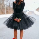 Black Full Fluffy Layered Petticoat Tulle Skirt