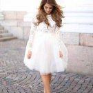 White Full Fluffy Tulle Skirt