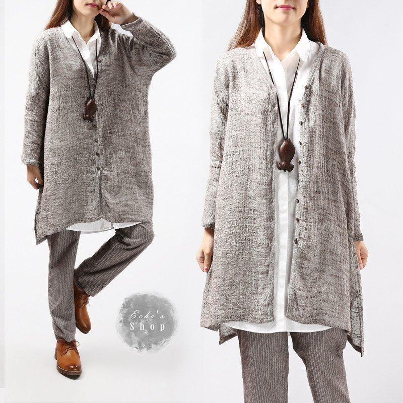 Loose Linen Top Linen Jacket Linen clothing