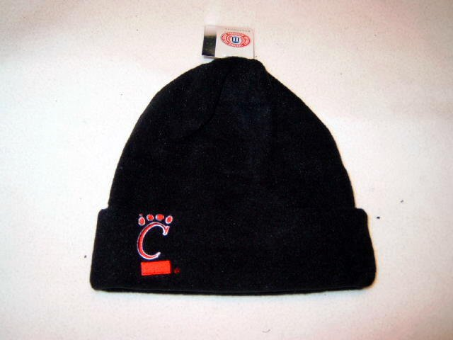 Cincinnati Bearcats Black Arctic Fleece Cuff Cap NWT