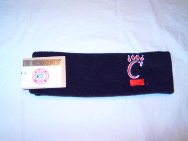 Cincinnati Bearcats Black Arctic Fleece Headband NWT