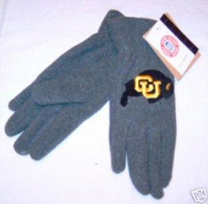 Colorado Buffalos Ladies Lightweight Fleece Gloves NWT