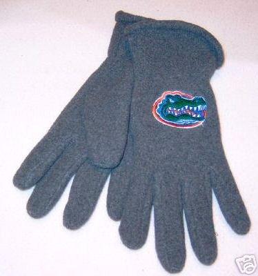Florida Gators Mens Lightweight Grey Fleece Gloves NWT