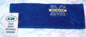 NCAA Michigan Wolverines Blue Arctic Fleece Headband NWT
