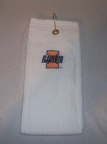 Illinois Fighting Illini Golf Towel by 1888 Mills