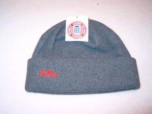 University of Mississippi Ole Miss Grey Arctic Fleece Cuff Cap